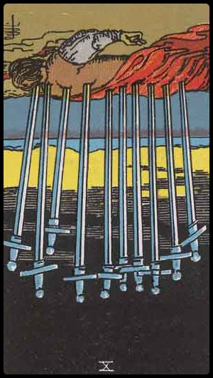 Ten of Swords (reversed)